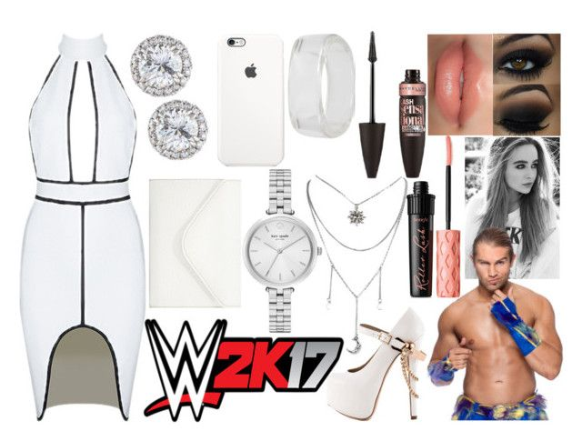 """""""Jessie - 2K17 Launch Party"""" by makhinegankaller14 ❤ liked on Polyvore featuring ZiGiny, Rimmel, Benefit, Maybelline, INC International Concepts, Kate Spade, Neiman Marcus, WWE and wweoc"""