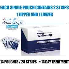 28 CREST SUPREME STRIPS PROFESSIONAL 14 DAY KIT TEETH WHITENING WHITESTRIPS