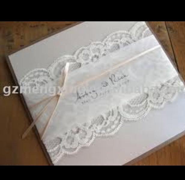 Wedding invite lace <3