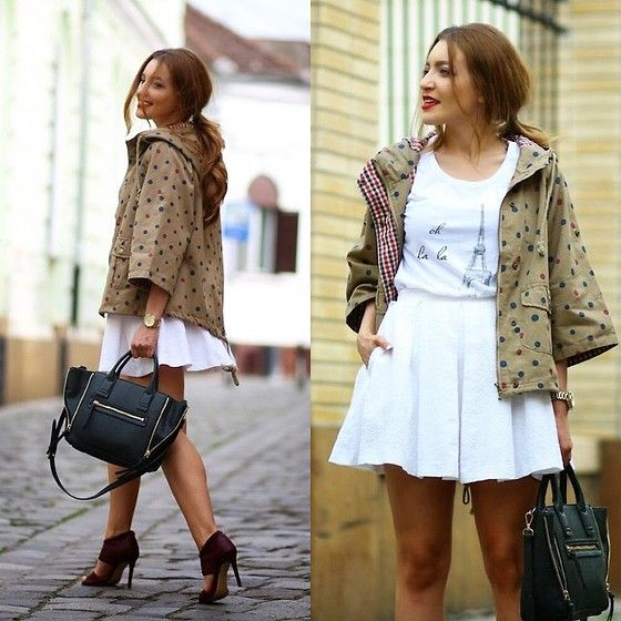 Sheinside Parka, Jessica Buurman Sandals