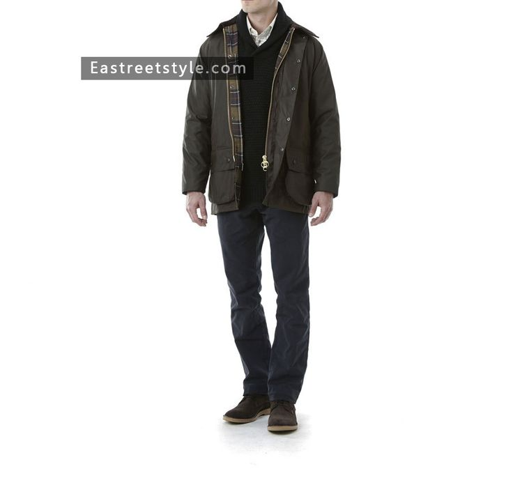 Men Barbour Classic Beaufort Waxed Jacket at www.eastreetstyle.com #Barbour Jackets Sale