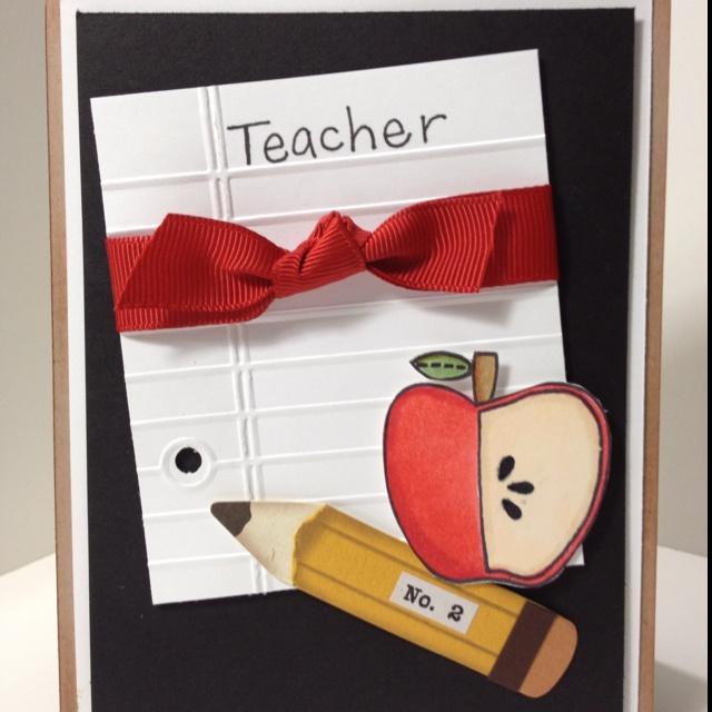 Cute card for teacher appreciation!