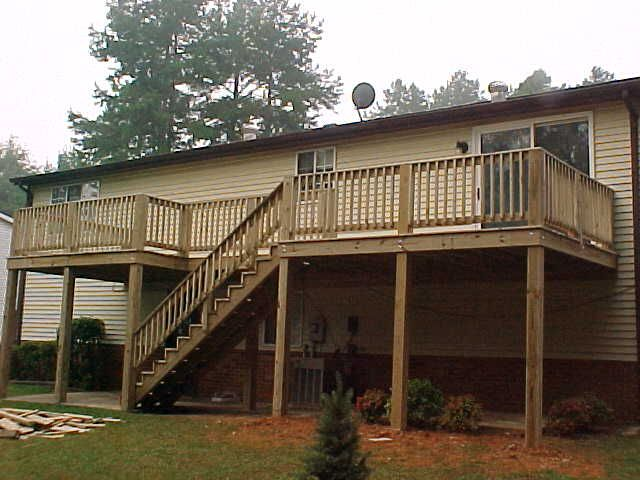 16 best images about back deck designs on pinterest for 2nd story deck plans