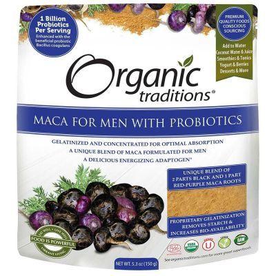 Organic Maca for Men with Probiotics