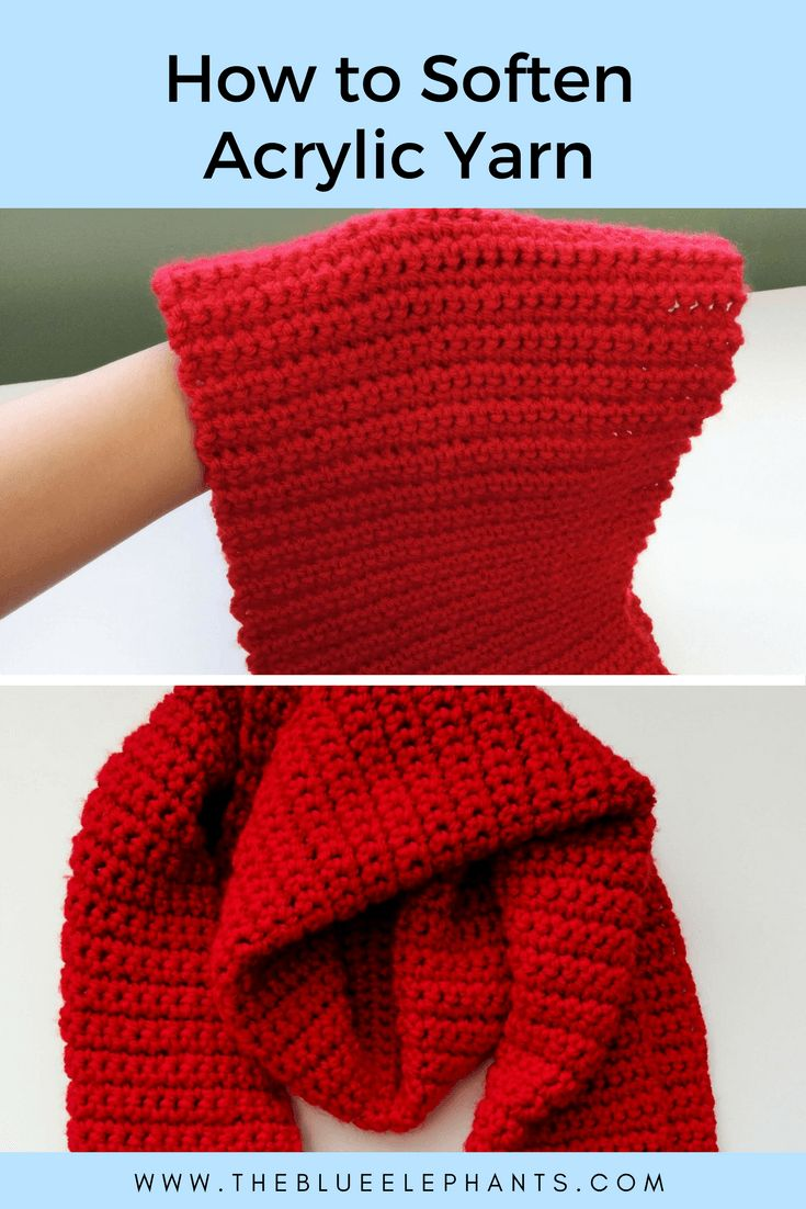 Acrylic yarn is great when you need something versatile and cheap, but it can be scratchy. Here's how to soften acrylic yarn so that it's soft and supple!