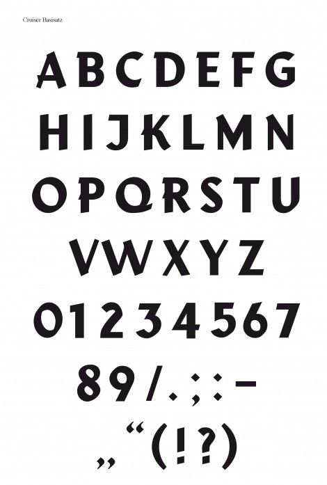 "Typeface ""Cruiser"" on Ebay  A project by Anna Sartorius and Simone Vollenweider"