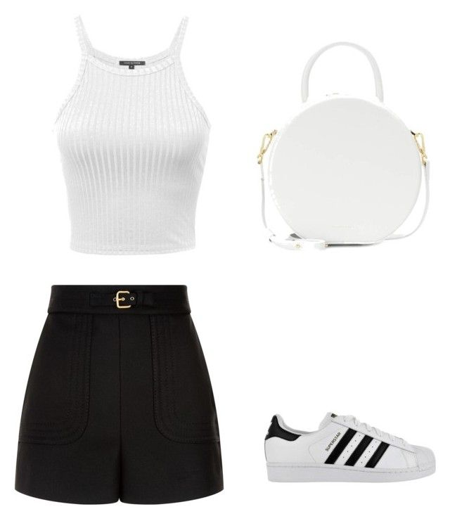 """""""Untitled #111"""" by anais-maria on Polyvore featuring RED Valentino, adidas and Mansur Gavriel"""