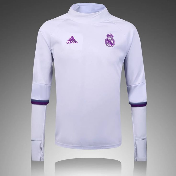 Real Madrid 2016/17 White Long Sleeve(high collar) Training Top
