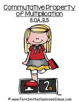 Commutative Property of Multiplication - Quick and Easy Center and Printables #TPT $PAID