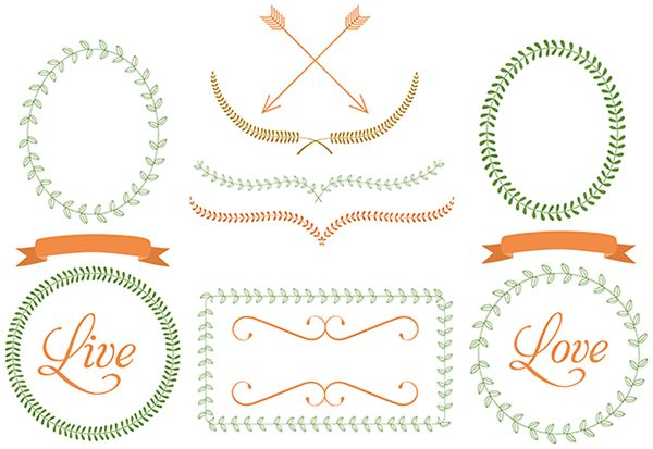 Free Frames, Ribbons, Dividers, and Arrows