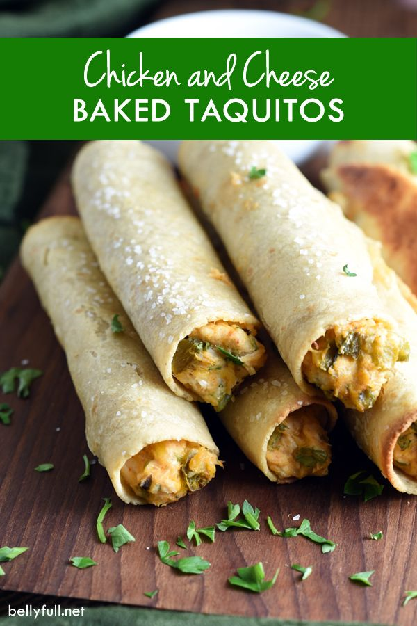 Chicken and Cheese Baked Taquitos | Recipe | The o'jays ...