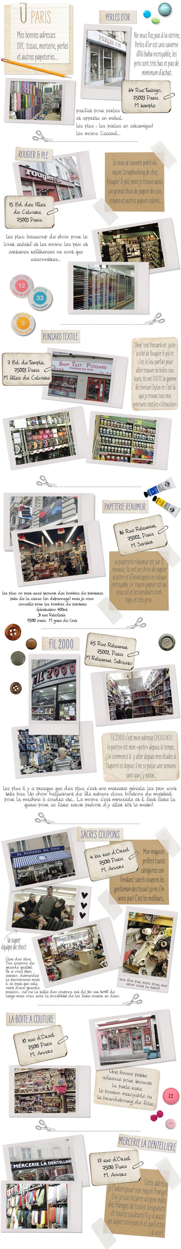 Bonnes Adresses Paris Shopping #12: Shopping | Make My Lemonade Bonnes Adresses Couture, Brico And Co