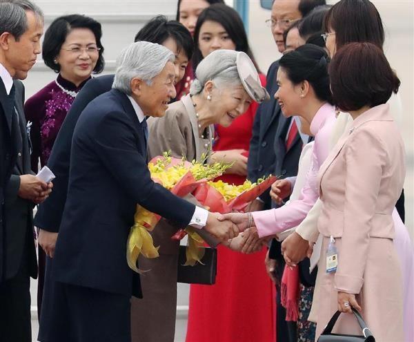 両陛下、ベトナムご到着 / 産経ニュース(2017.2.28) #皇室 #ベトナム #天皇陛下