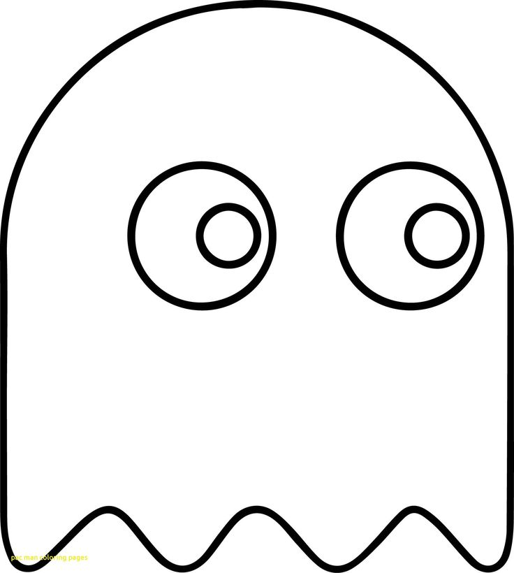 Pacman Game Coloring Pages 2018