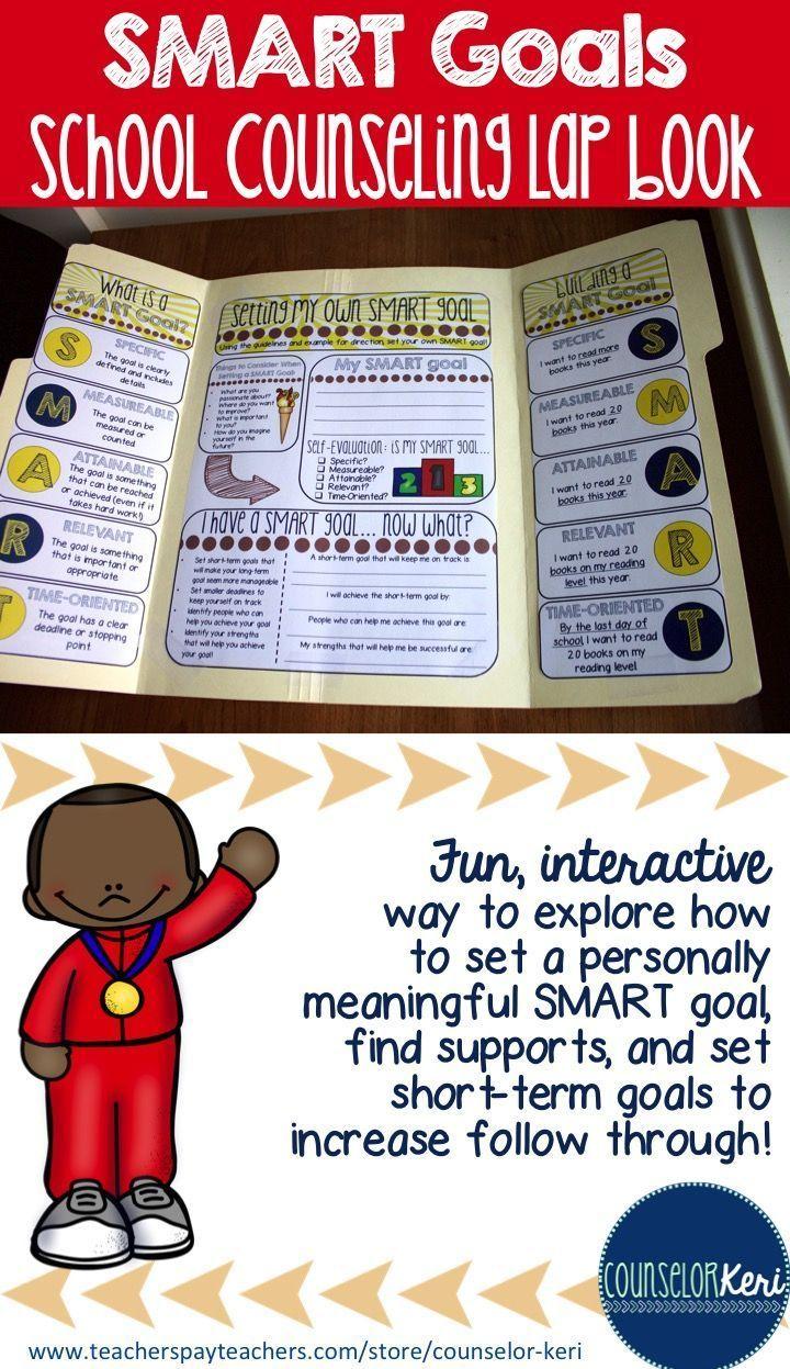 best ideas about smart goal setting smart elementary school counseling lap book smart goal setting