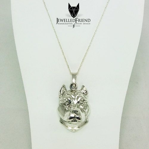 Check out American staffordshire terrier jewelry pendant - sterling silver - Custom Dog Necklace - Pet Memorial Gift - Dog Mom Gift - Pet jewellery on jewelledfriend