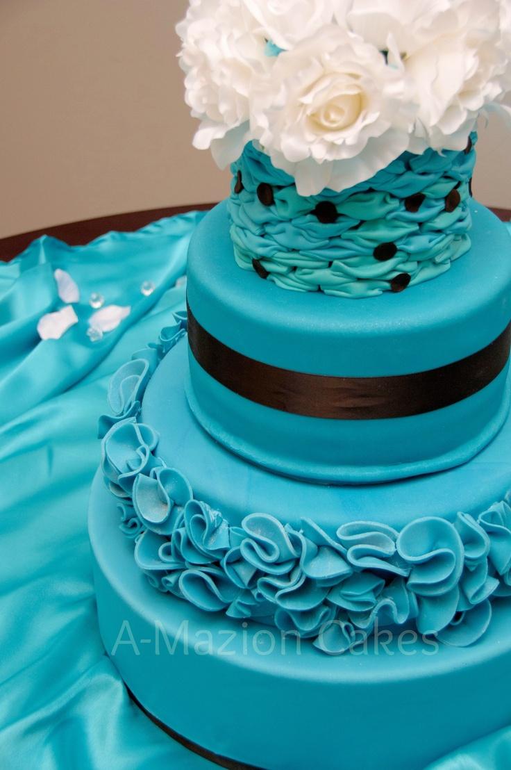 Malibu and Chocolate Wedding Cake