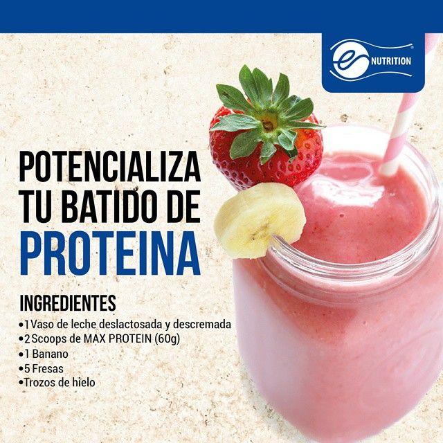 Potencializa tu batido de proteína Ingredientes: - 1 vaso