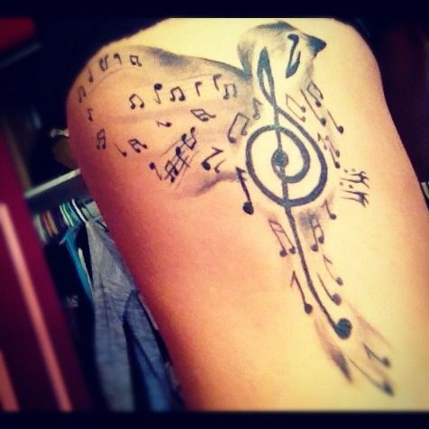 (95) music tattoos | Tumblr