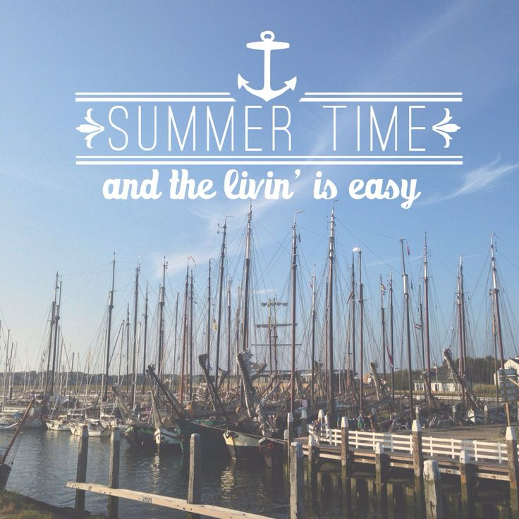 Summertime and the living is easy! Jachthaven van Vlieland.