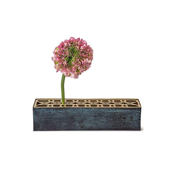 Äng Vase Rectangular, Brass - Eva Schildt - Klong - RoyalDesign.co.uk