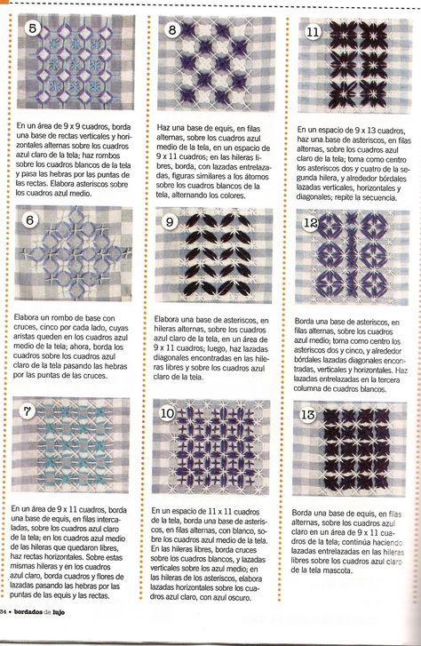 Sampler 3 Chicken Scratch Stitches -- in Spanish