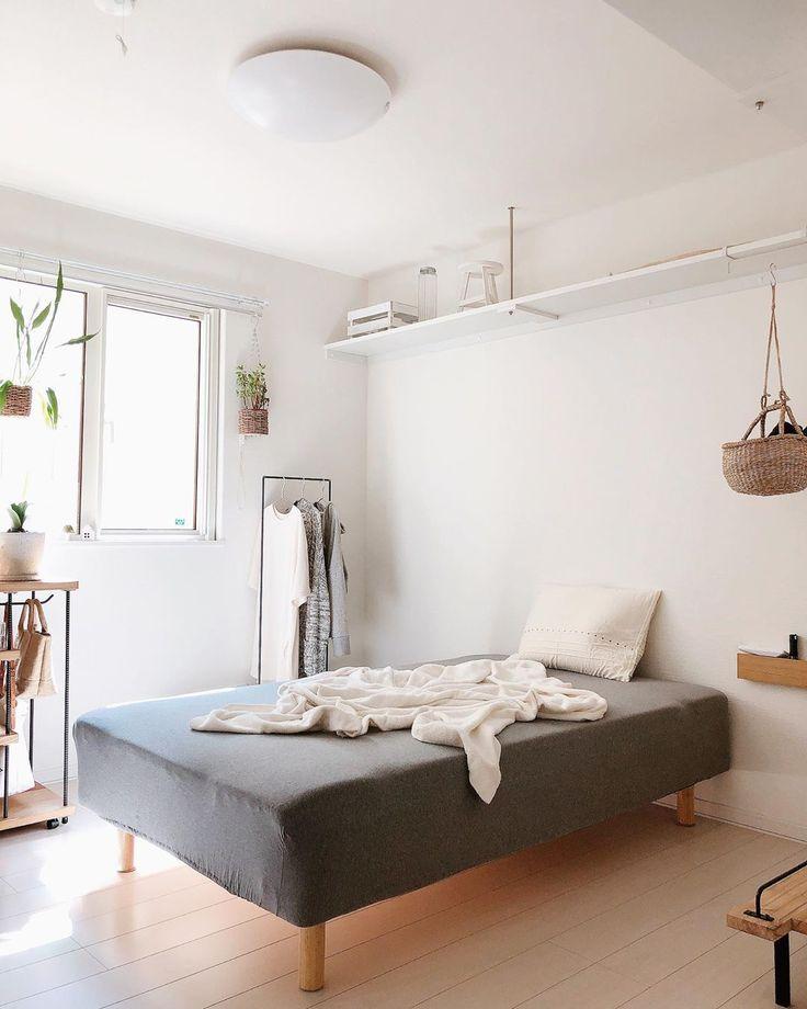 5畳の狭い寝室 ベッド選びやインテリアのレイアウトとコツまとめ インテリア インテリア 一人暮らし インテリアデザイン