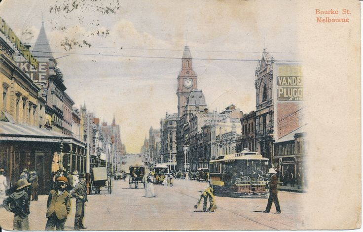 This week's #PostcardThursdays is of beautiful Bourke Street from 1905. How great is the tram!