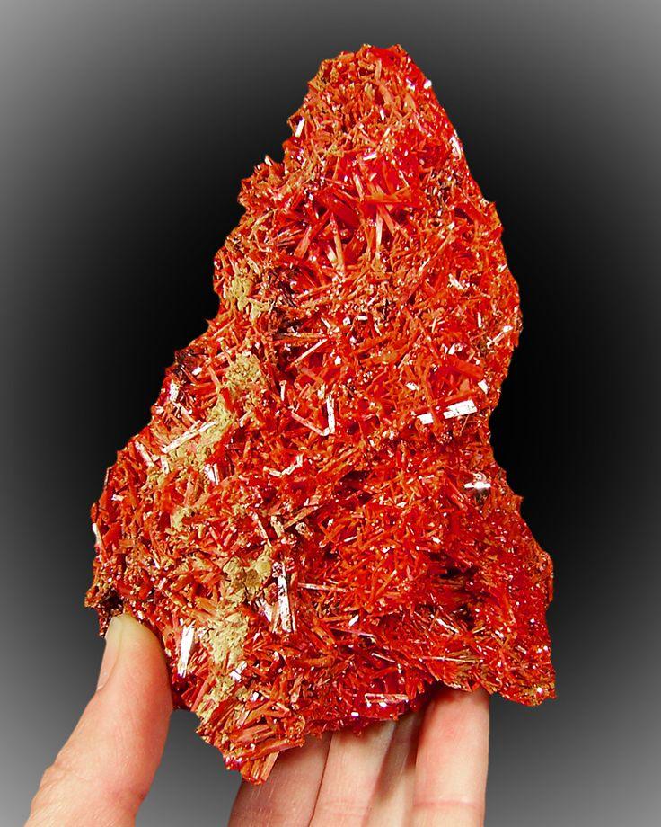 * Brilliant Red Color of Crocoite from Tasmania *
