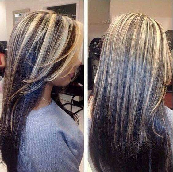 2 toned hair highlights on top of dark brown hair i want to do hair color trends 2018 highlights for my dark hair ladies who want to add highlighteat for gray coverage love pmusecretfo Image collections
