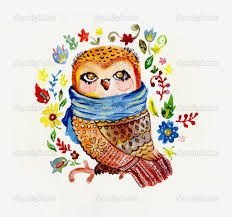 Картинки по запросу сова акварелью