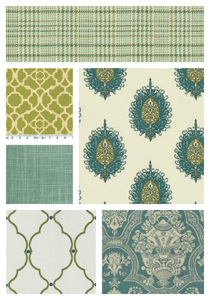 I love all of these fabrics for the new benches...