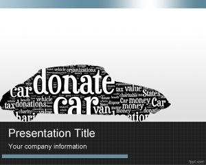 hhh  Donate Car PowerPoint Template is a nice design for car donation organizations and non profit organizations who need a car template theme for presentations click image