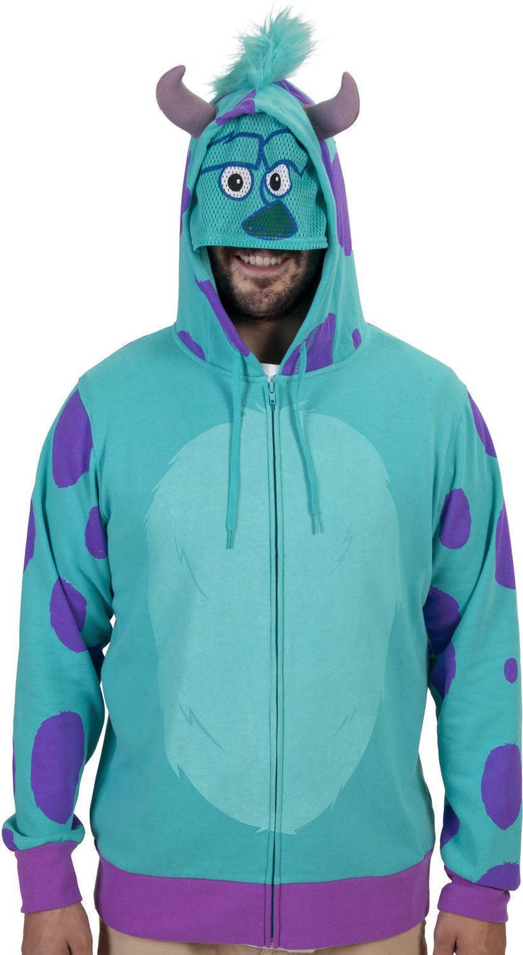 Sulley Costume Hoodie Hoodies, Sulley costume, Costumes