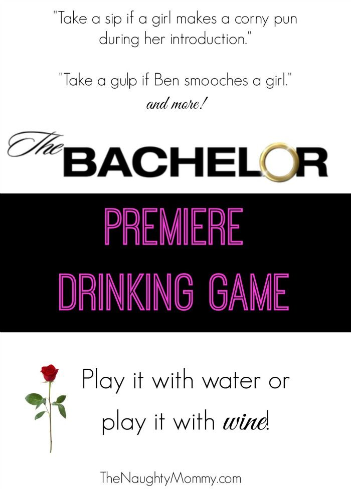 "Calling all Bachelor fans! Grab your girlfriends and your wine and print out this ""The Bachelor Premiere Drinking Game"" to celebrate Season 20 of The Bachelor starring Ben Higgins."
