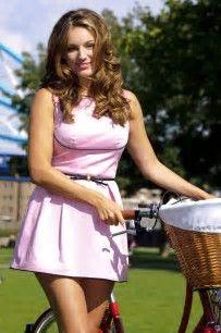 Image result for kelly brook skyride pink dress