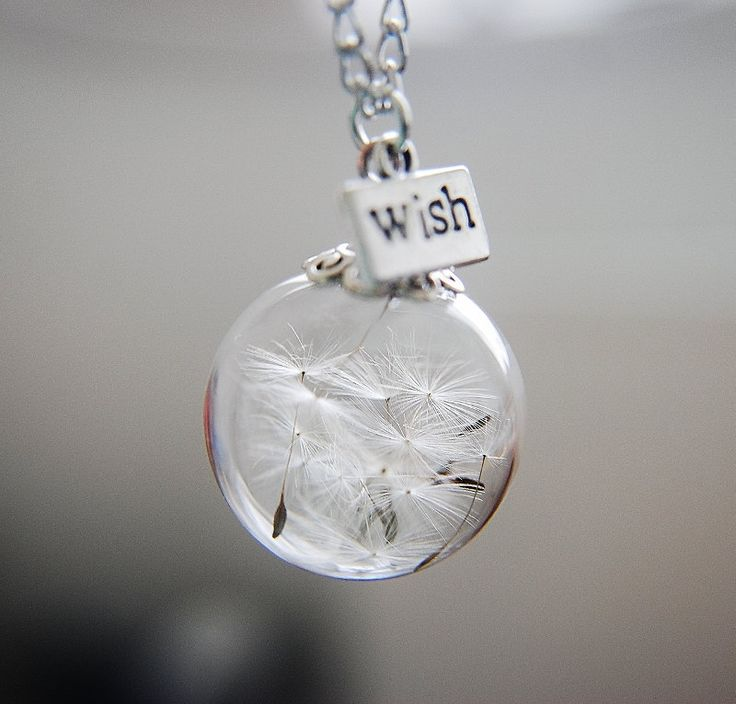 Dandelion Necklace Make A Wish Glass Bead Orb Bronze Necklace Botanical  Globe Beadwork by NaturalPrettyThings on Etsy