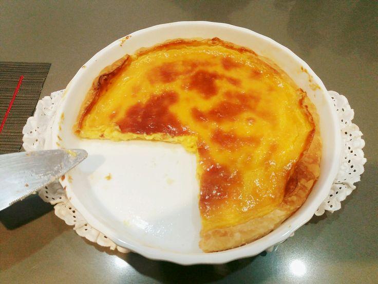 Tarte de nata!!!! Delicioso!