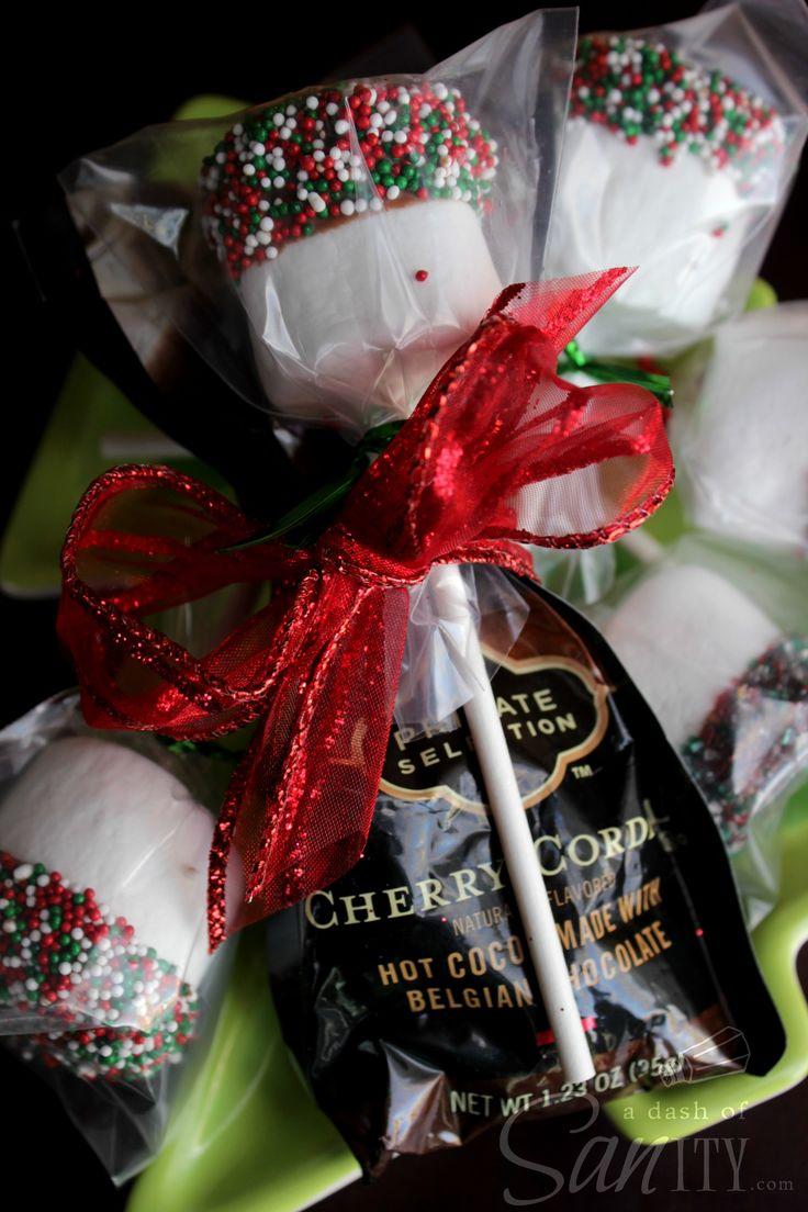 Marshmallow Hot Chocolate Dippers ~ Great Teacher Treats