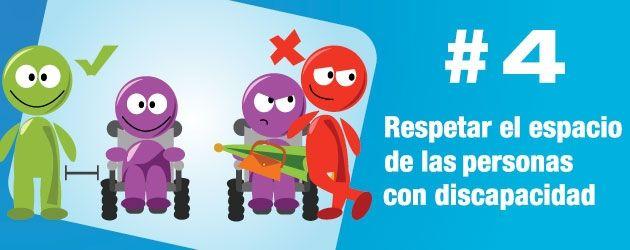 Respetar el espacio de las personas con discapacidad