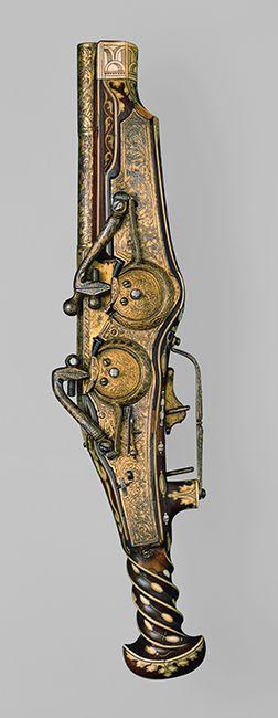 Pistola de rueda de dos cañones del artesano Peter Peck que fue del emperador Carlos V - Munich (Alemania) - 1540-1545