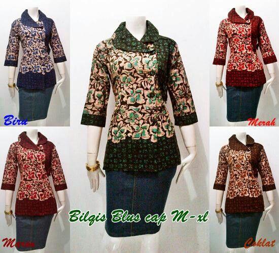 Blouse batik bilqis series