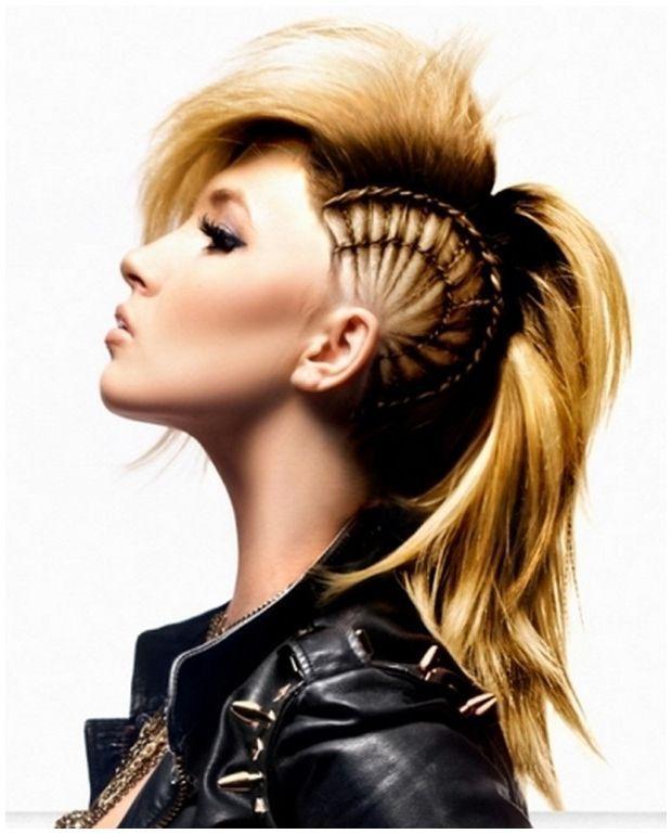 Marvelous 1000 Ideas About Braided Mohawk Hairstyles On Pinterest Mohawk Short Hairstyles For Black Women Fulllsitofus