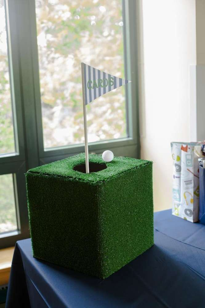 Baby Golf Shower decoration idea.