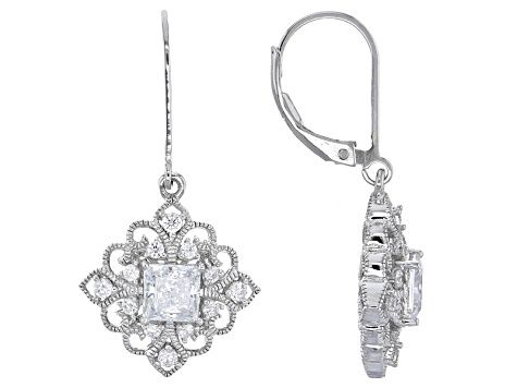 f4e394debb007 Cubic Zirconia Platineve Earrings 2.83ctw in 2019 | inspiring ...