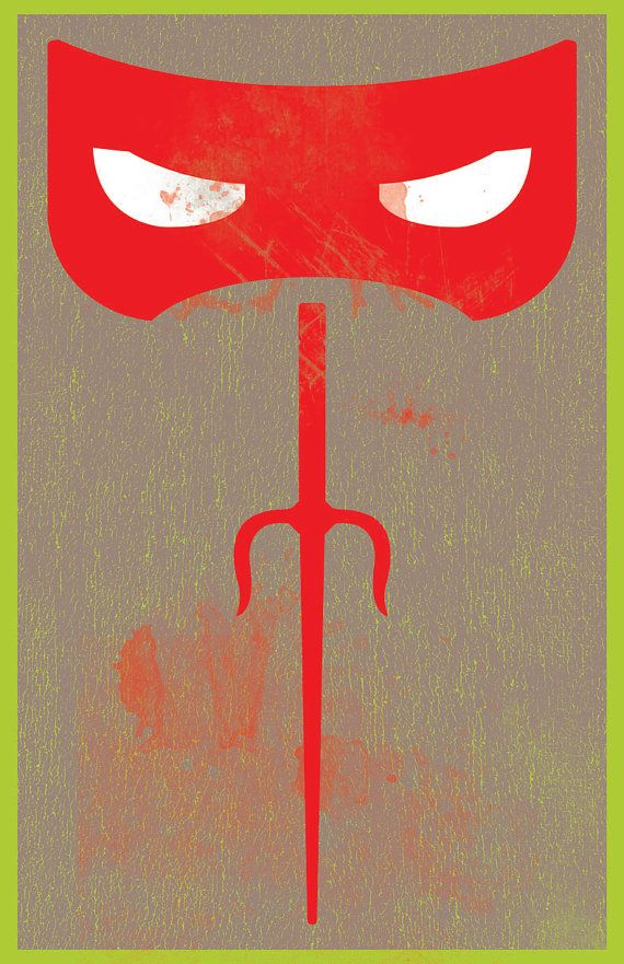 Teenage Mutant Ninja Turtles / Raphael by onelovedesignpmc on Etsy, $21.00