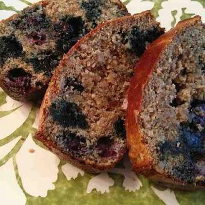 Paleo Blueberry Almond Flour Protein Bread! All Natural & Gluten Free!