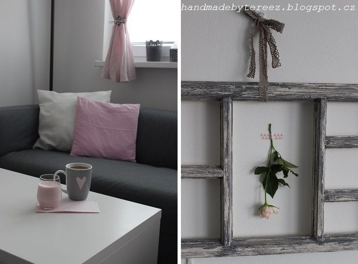 Living room, spring, light pink, rose ...