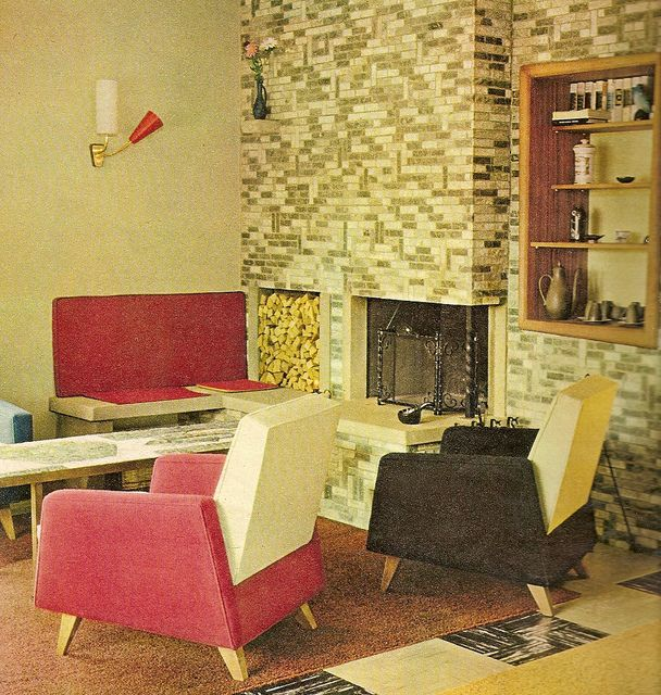 1960s interior design vintage decorating pinterest