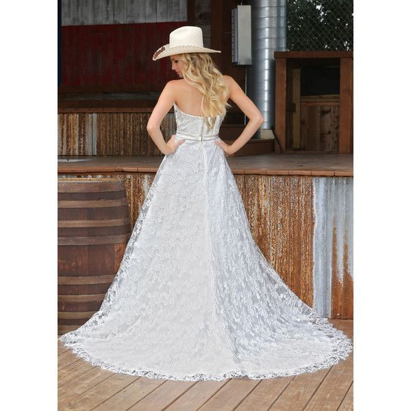 DaVinci Wedding Dresses Style #50302 ❤ liked on Polyvore featuring dresses and wedding dresses